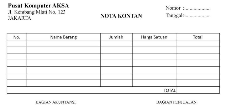 Best Nota Kosong Toko Bangunan Island International School